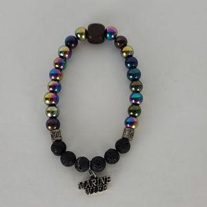Lava Stone Diffuser Bracelet, Marine Wife